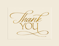 Golden Gratitude Thank You Cards